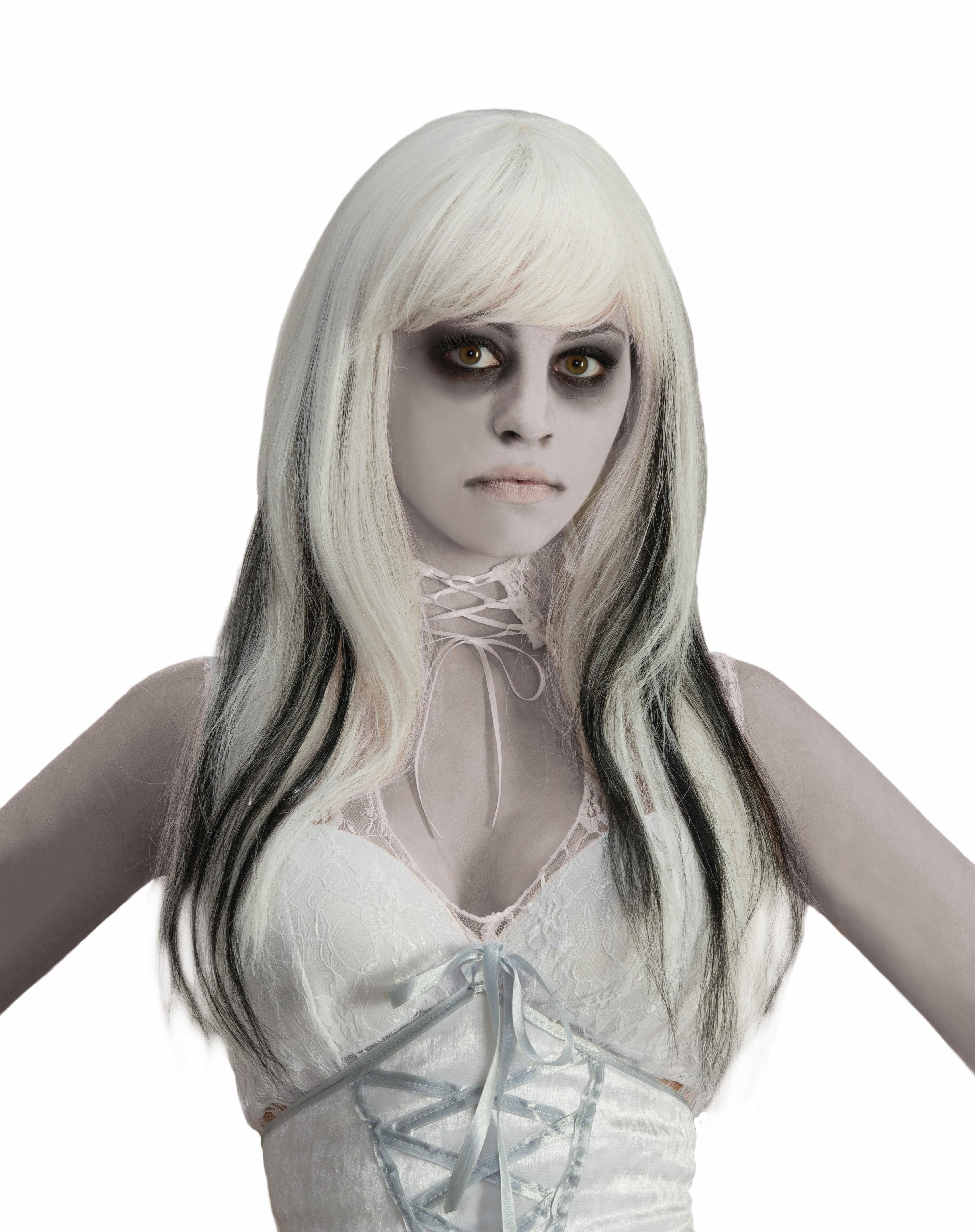 phantom ghost black & white costume wig adult one size