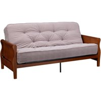 Deals on Better Homes and Gardens Wood Arm Futon With 8-in Coil Mattress