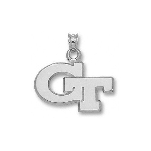 NCAA - Georgia Tech Yellow Jackets Sterling Silver ''GT'' 5/8'' Pendant