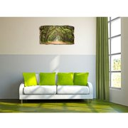 Startonight 3D Mural Wall Art Photo Decor Green Tunnel Tree Amazing Dual View Surprise Medium Wall Mural Wallpaper for Bedroom Nature Collection Wall Paper Art 32.28 inch By 59.06 inch