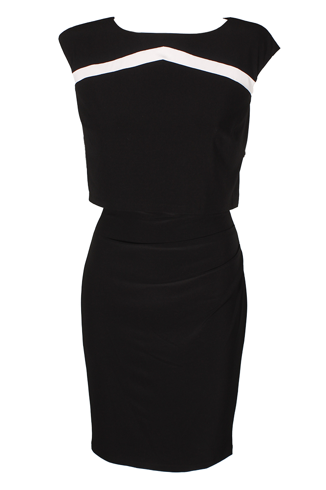 American Living Blackwhite Kendrick Two-Toned Jersey Dress 8 by American Living
