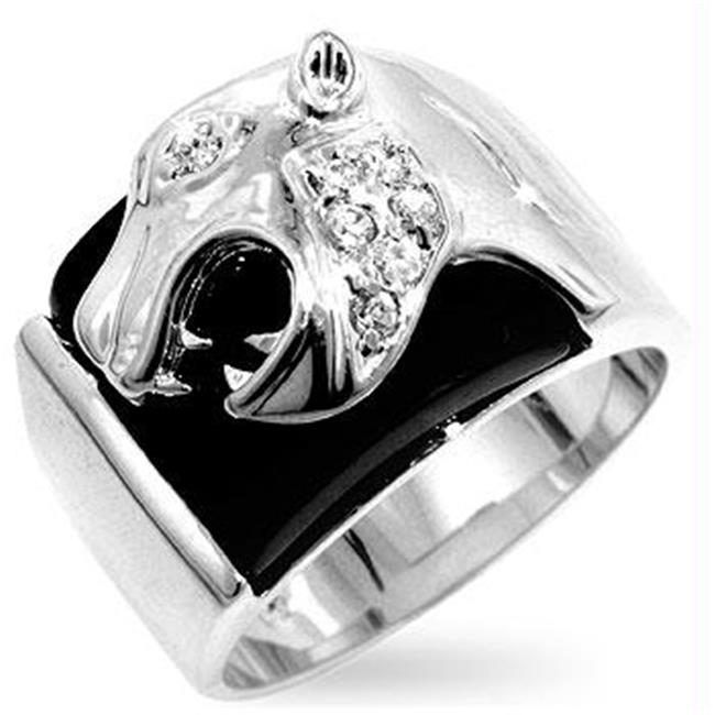 Onyx Panther Mens Ring, <b>Size :</b> 11