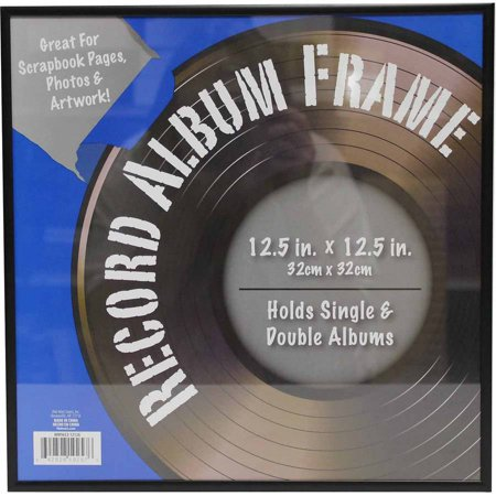 12x12 Metal Record Frame, Black