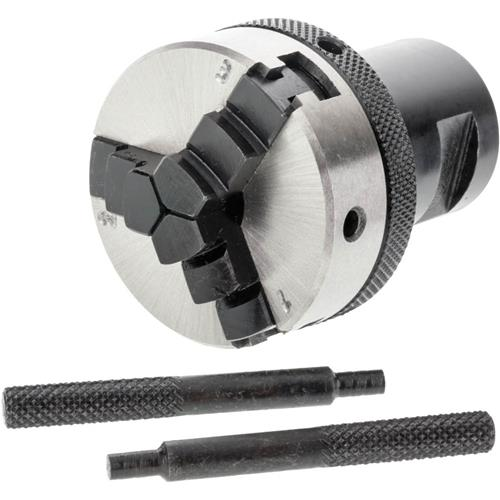 """Grizzly H8031 2"""" 3-Jaw Micro Chuck - 3/4"""" x 16 TPI"""