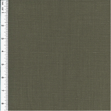 Designer Vision Gray/Brown European Linen Home Decorating Fabric, Fabric By the Yard