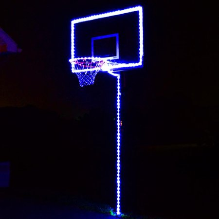 GlowCity Light Up Basketball Hoop Lighting Kit (LED Basketball, Hoop And Rim Not Included) - Blue Blue Jays Basketball