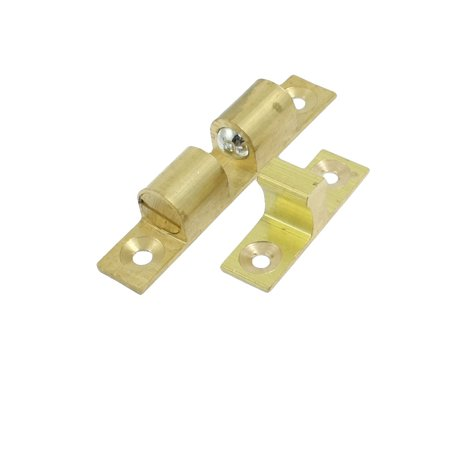 Unique Bargains Cupboard Drawer Brass Double Ball Catch 60mm Doors Latch