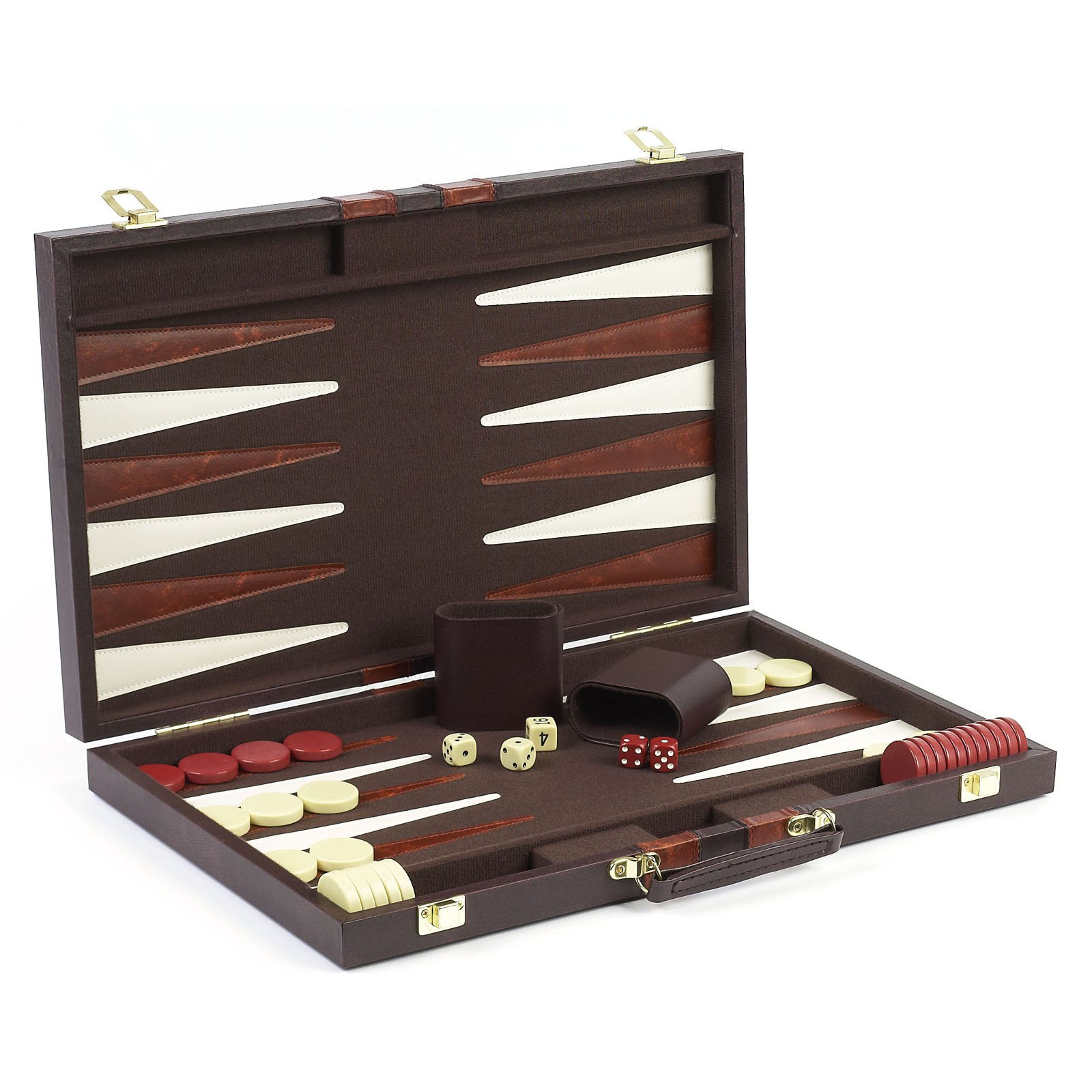 Cambor Games Elite 18 Inch Backgammon Set - Brown