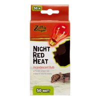 Zilla Night Red Incandescent Heat Bulb, 50 Watt