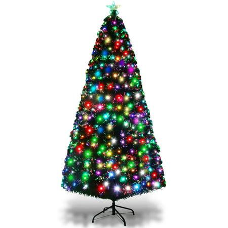 2 Christmas Tree.7ft Fiber Optic Artificial Christmas Tree W 275 Multi Color Led Lights Stand