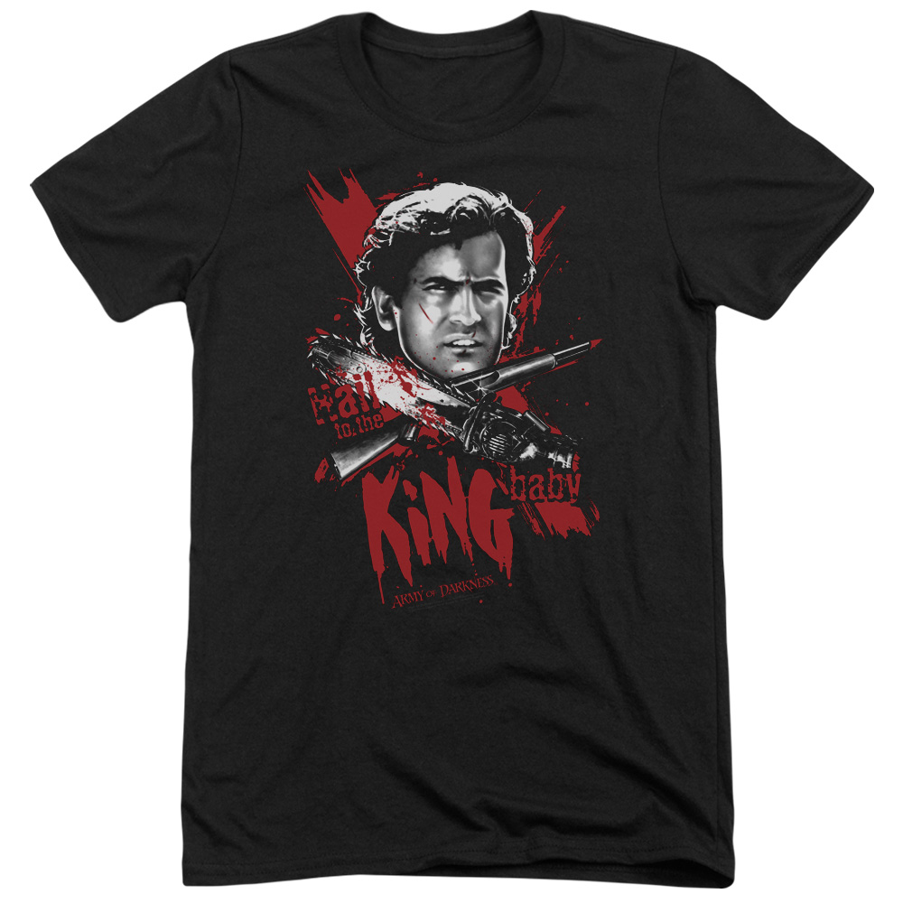MGM Army Of Darkness Hail To The King Mens Tri-Blend Short Sleeve Shirt