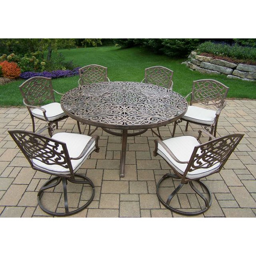 Oakland Mississippi 7 Piece Dining Set with Cushions