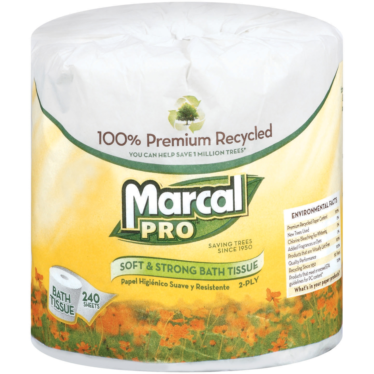 Marcal Pro 240 Sheets Per Roll Bath Tissue 1 Ct Wrapper