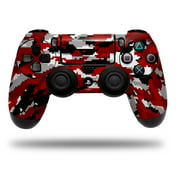 Skin Wrap for Sony PS4 Dualshock Controller WraptorCamo Digital Camo Red (CONTROLLER NOT INCLUDED)
