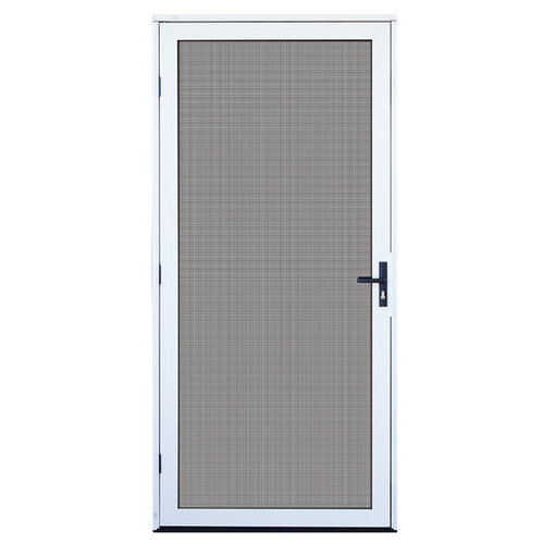Aluminum Security Screen Door titan security recessed mount aluminum meshtec security screen