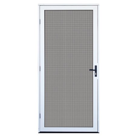 Titan security recessed mount aluminum meshtec security screen door white 32 x 80 - White security screen door ...