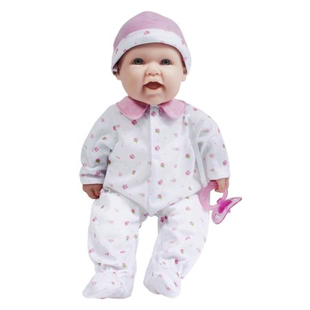 JC Toys, La Baby 16-inch Pink Washable Soft Baby Doll with Baby Doll Accessories - For Children 12 Months and older, Designed by - Soft Baby Doll
