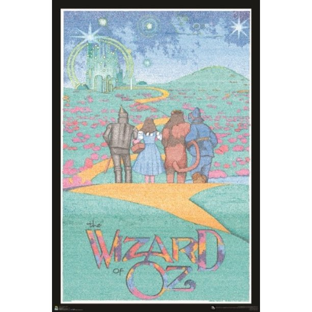 Wizard Of OZ Entire Script Text Movie Poster 24x36 Inch