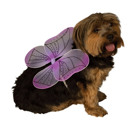 Purple Fairy Butterfly Wings Pet Dog Clothing Dress Up Halloween Costume-S/M - Purple Fairy Wings