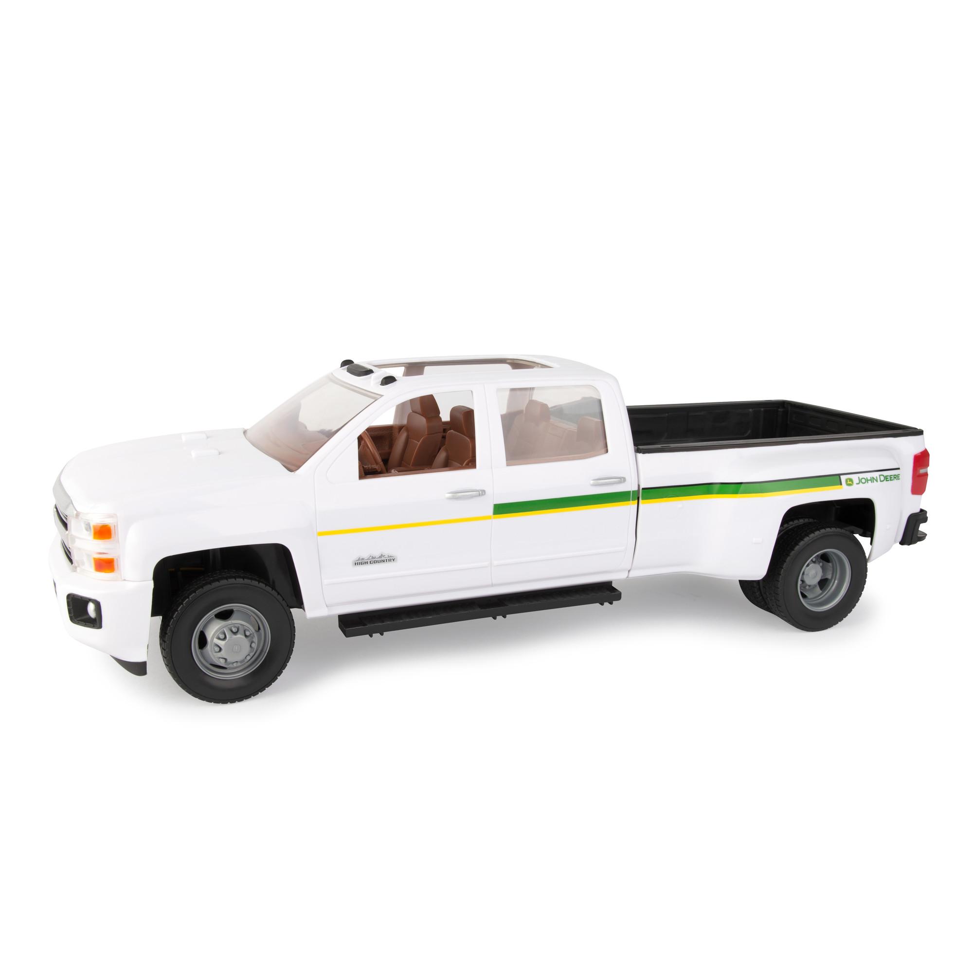 Big Farm 1:16 John Deere Chevrolet 3500 Dealership Truck by TOMY