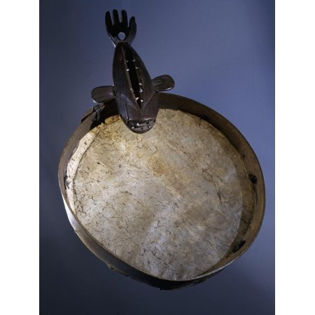 Eskimo drum frame with a handle in the shape of a whale, Alaska, USA Print Wall Art By Werner (Shape Of The Usa)