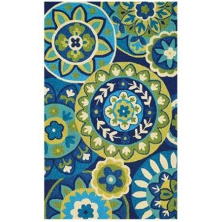 Couristan 37781014020040T 2 x 4 ft. Covington Rip Tide Rug - Ocean & Green - image 1 of 1