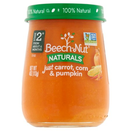Nature Carrot (Beech-Nut Naturals Just Carrot, Corn & Pumpkin Baby Food Stage 2 From About 6 Months, 4 oz )