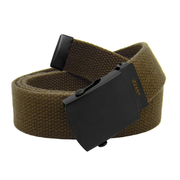 kids Belts Build A Belt - Boys School Uniform Black Slider Military Belt Buckle with  Canvas Web Belt Husky X-Large Brown - Walmart.com - Walmart.com