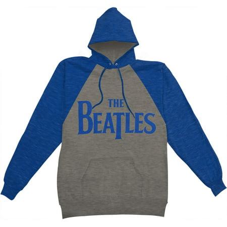 Beatles Men's  Raglan Logo Hooded Sweatshirt Heather