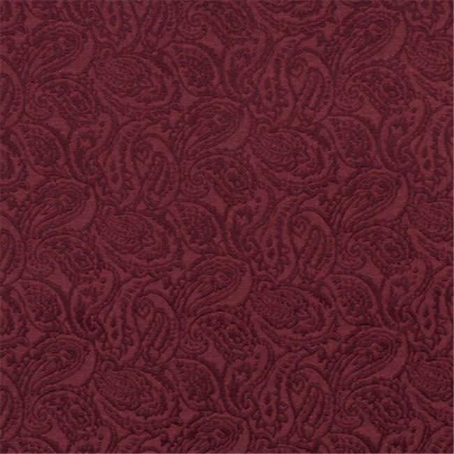 Designer Fabrics E572 54 in. Wide Burgundy, Paisley Jacquard Woven Upholstery Grade Fabric