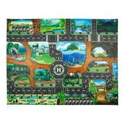 Follure Kids Play Mat Dinosaur World Parking Map Game Scene Map Educational Toys