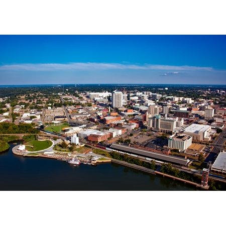 Canvas Print Urban Aerial View City Cities Montgomery Alabama Stretched Canvas 10 x 14