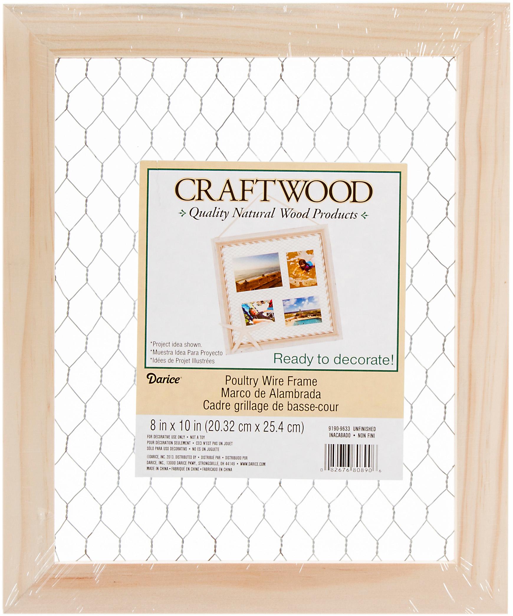 Wood Chicken Wire Frame-9.5\