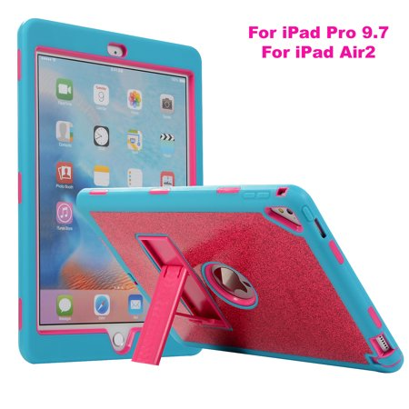 cheaper 10107 f5e27 iPad Air 2 Case, iPad Pro 9.7 Inch Case, Allytech 3-Layers Glitter Back  Cover Silicone Rugged Corner Protective Shockproof Kickstand Kids Friendly  ...