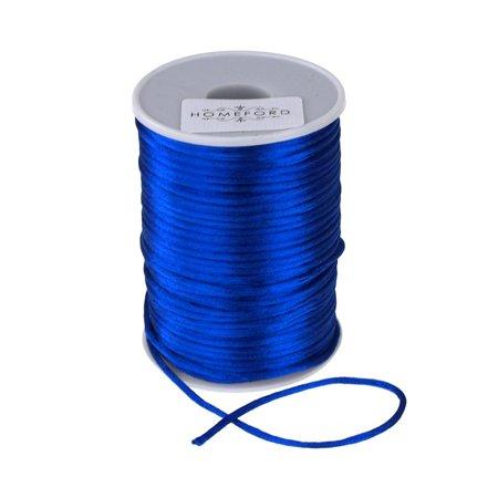 Satin Rat Tail Cord Ribbon Chinese Knot, 1/16-Inch, 100-Yard, Royal -