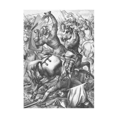 Scene of Battle of Hastings Print Wall Art ()