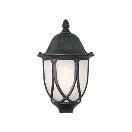 - Black 1 Light 9in. Cast Aluminum Post Lantern from the Capella Collection