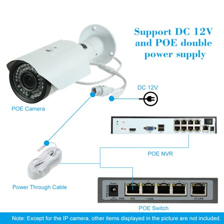"5MP ( 4MP/1520P/1440P/1080P) Camera HD Bullet POE IP Camera 2.8~12mm Manual Zoom Varifocal Focus Lens H.264/H.265 Optional 1/2.7"" for Mstar COMS Sensor IR-CUT 42pcs IR Lamps Support Onvif Phone APP Co - image 3 of 7"