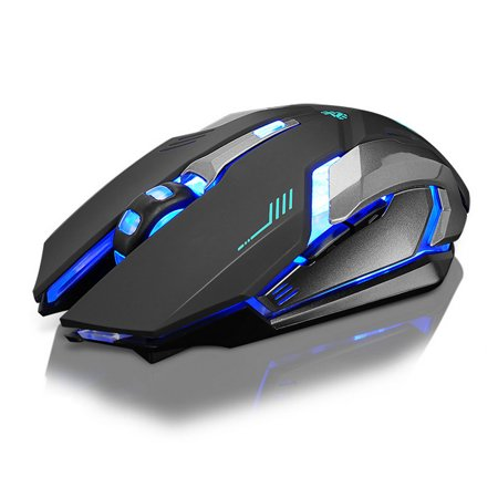 Lcd Mouse - DZT1968Rechargeable X7 Wireless Silent LED Backlit USB Optical Ergonomic Gaming Mouse
