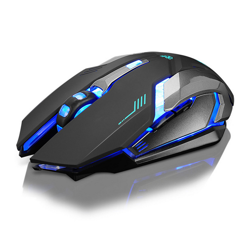 DZT1968Rechargeable X7 Wireless Silent LED Backlit USB Optical Ergonomic Gaming Mouse