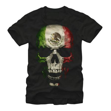 Aztlan Men's Mexican Flag Skull -