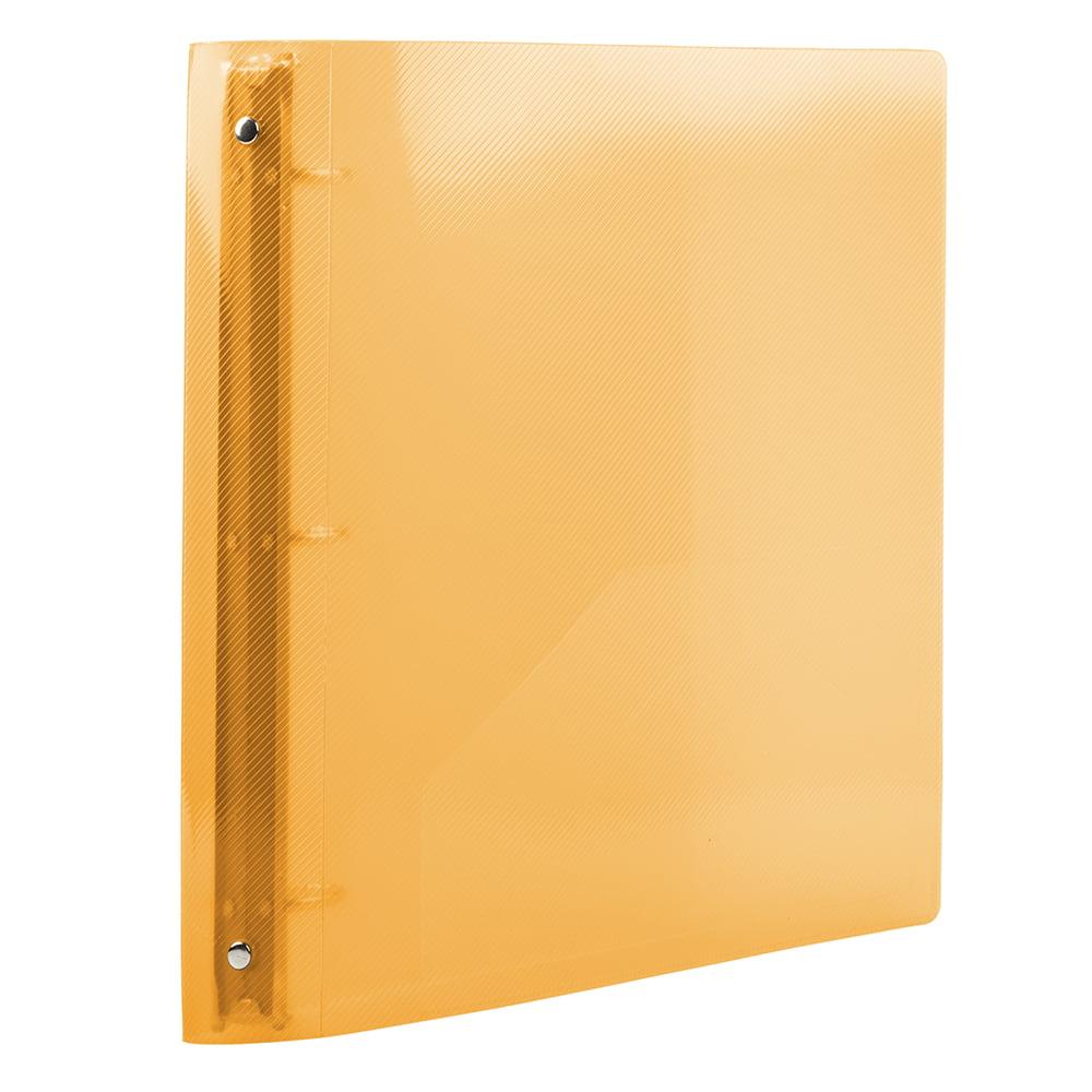 JAM Plastic 3 Ring Binder, 1.5 Inch, Orange, 1/Pack