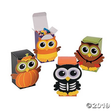 Halloween Owl Favor Boxes - Feeling Boxes For Halloween