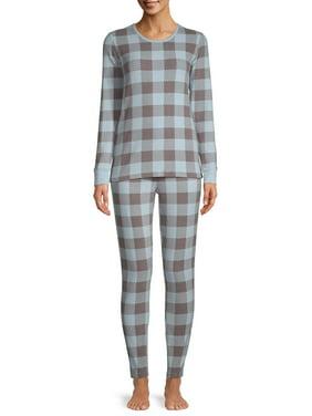 Hanes Women's Thermal Fleece Sleep Set