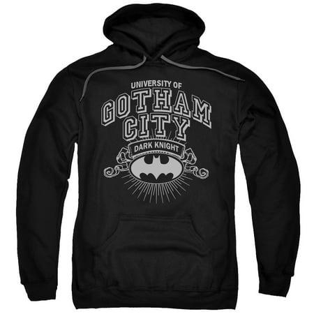 Batman University Of Gotham Mens Pullover Hoodie (Mens Batman Hoodie)