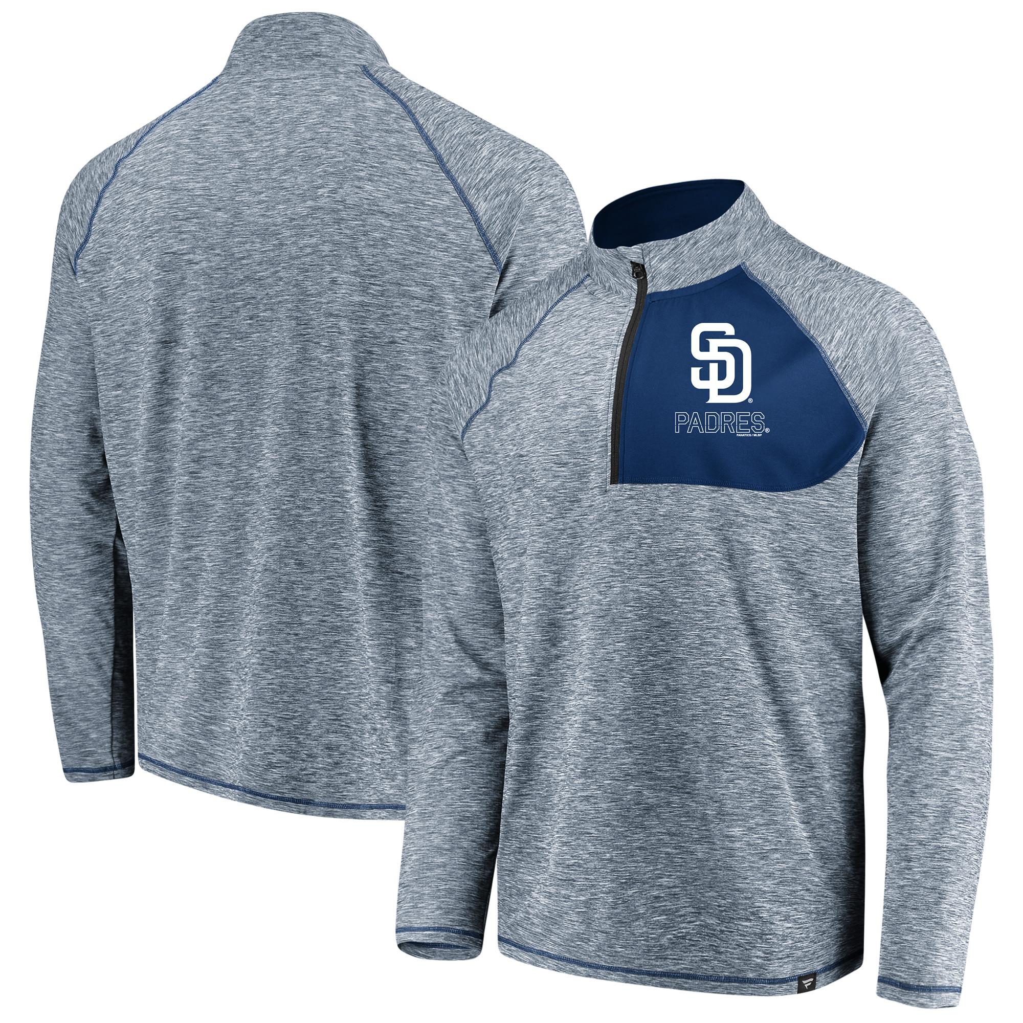 San Diego Padres Fanatics Branded Made 2 Move Quarter-Zip Jacket - Navy