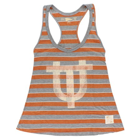 Distant Replays Womens Texas Longhorns College Yarn Dye Tank Top Grey