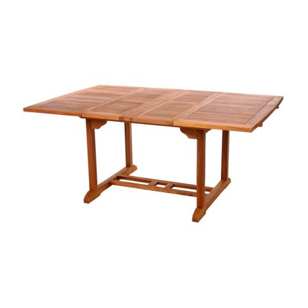 All Things Cedar Teak Butterfly Extension Patio Dining