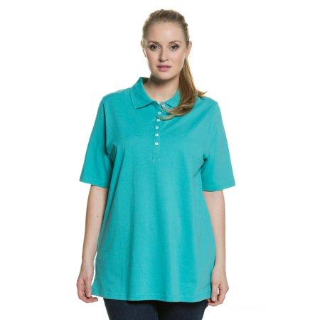 6cdebf1163e Ulla Popken Women s Plus Size Regular Fit Pique Polo Shirt 637297 ...