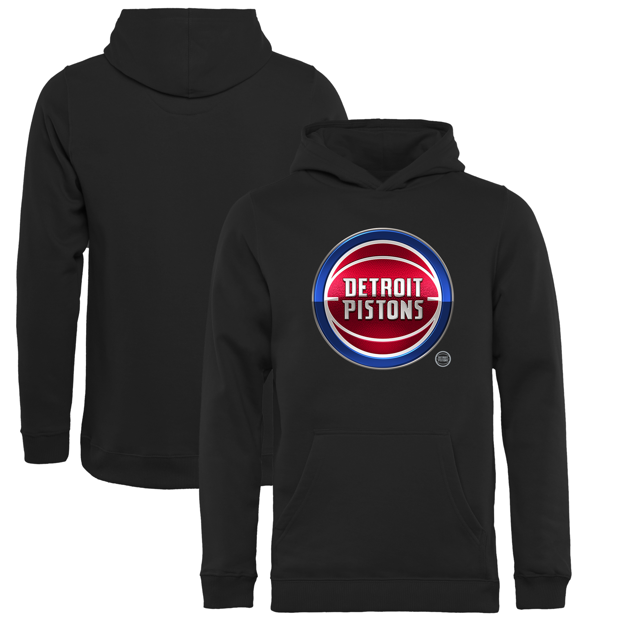 Detroit Pistons Fanatics Branded Youth Midnight Mascot Pullover Hoodie - Black